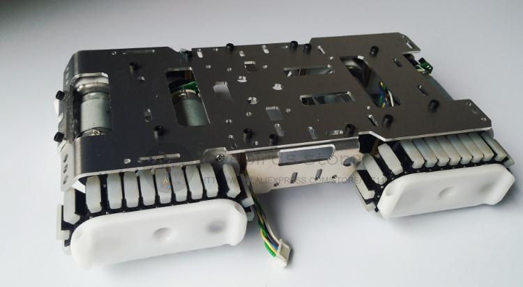 Jaunākais DIY alumīnija tvertnes šasijas / robota kāpurķēžu Antiskid