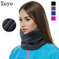 XUYE 3in1 Outdoor Winter Thicken Warm Fleece women Neck Warmer Snood Cycling Scarves Men Ski Bicycle Scarf Skullies Beanies Hats