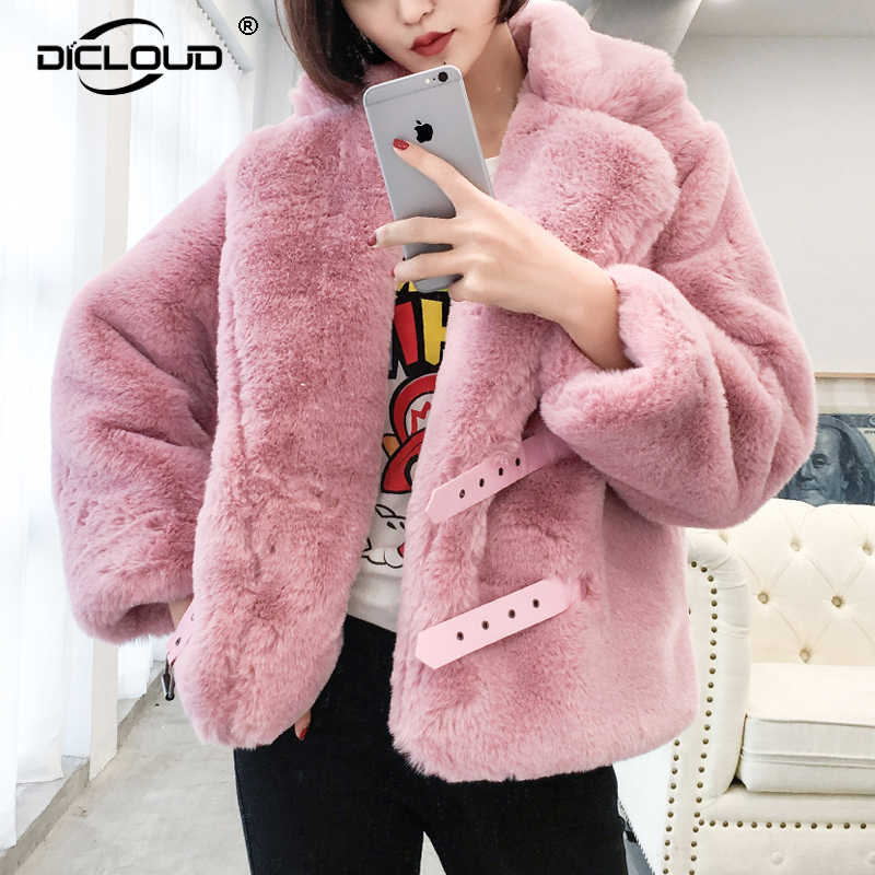 b1d45cb334b2 Шикарные бордовые пальто из искусственного меха куртки женские лохматые  негабаритные женские зимние куртки пальто утепленная теплая