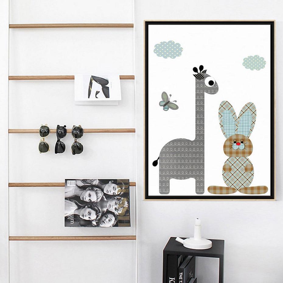 New Selling Nordic schilderij minimalistische schattige cartoon - Huisdecoratie
