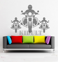 Moto Pilota Creativo Stickers Murali Autoadesivi Della Parete Del Vinile Sticker Testo Texture Garage Parete Murales Interni Home Camere