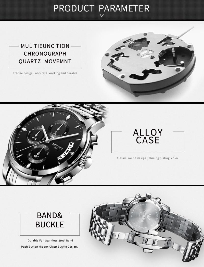 Relogio Masculino NIBOSI Mens Watches Top Brand Luxury Dress Famous Brand Watch Men Waterproof Calendar Luminous Erkek Kol Saati (3)