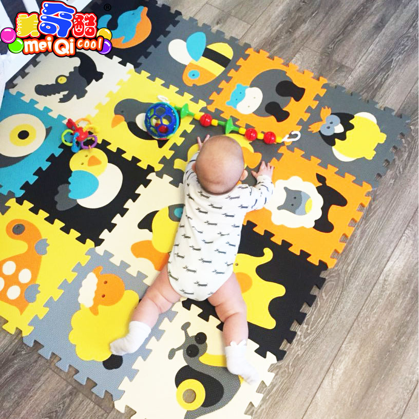 Children's soft eva puzzle mat baby play carpet puzzle animal/letter/cartoon eva foam play mat,pad floor for kids games rugs SGS baby crawling pad cute cartoon animal fox elephant sleeping mat baby kids soft plush mattress cushion pad play mat