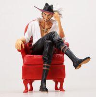 New Arrival One Piece Dracule Mihawk Stylist PVC Action Figure Model Toy 12cm Kunai