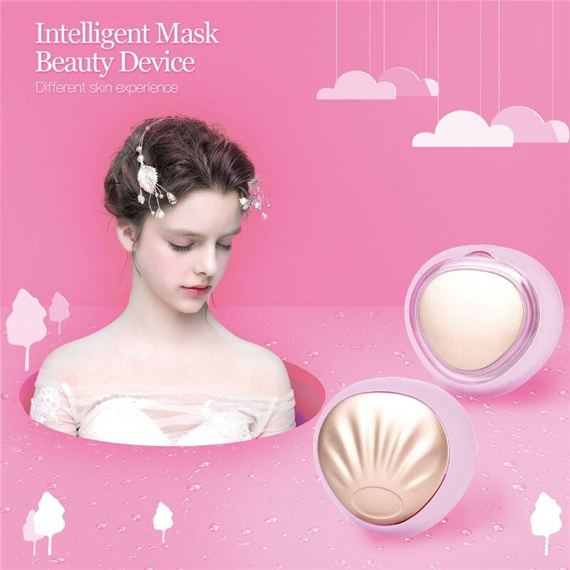 Masque Facial intelligent Instrument lumière LED chauffant/refroidissement masque traitement 90 secondes pour réparer masseur Facial Machine de soins de la peau 38