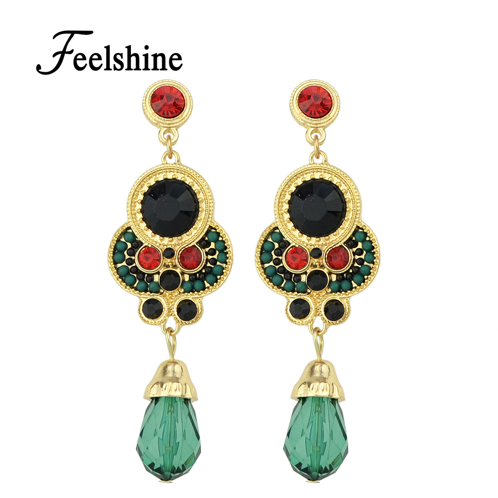 Fashion Vintage Style Beads Dangle Earrings For Women Jewelry In Drop Earrings From Jewelry