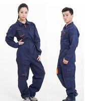 Рабочая одежда для мужчин женщин с длинным рукавом Комбинезоны Высокое качество для работника ремонтник машины авто