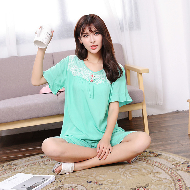 l tamaño Pijamas manga las corta para buena calidad xl de pijama de mujeres Mujer RRq16wgS