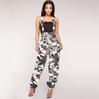 Almagores Women Jumpsuit Denim Camouflage Overalls Autumn Black Pink long Denim Jeans Strap Jumpsuit Rompers Pants trousers