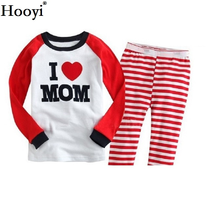 Hooyi Dog Baby Girls Pajamas Suits 2 3 4 5 6 7 years Children Clothes Sets Girl Clothes sets T-Shirts Pant Sleepwear 100% Cotton 5