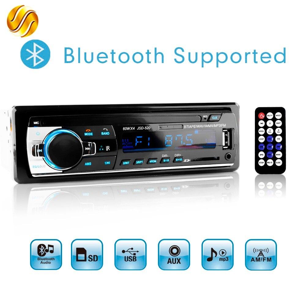 Viecar Autoradio Stereo Lettore MP3 Digitale Bluetooth 60Wx4 FM Audio Musica USB/SD con In Dash AUX Input