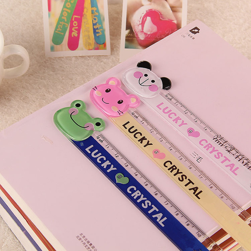 Coloffice 1PC Lovely Cartoon Plastic Rulers 15CM Student Stationery Scale Straight Ruler Kawaii For Kid Office School Supplies