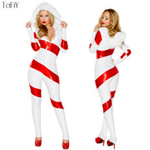 5fca1c79b1b TaFiY Brand New Women s Christmas Santa Costume Claus Cosplay Xmas Party  White Hooded Jumpsuit Christmas Sexy Snowman uniform