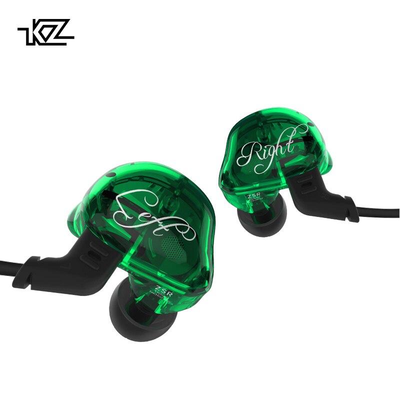KZ ZSR Six Pilotes Dans L'oreille Écouteurs Armature Et Dynamique Hybride Casque HIFI Basse Avec Remplacé Câble Antibruit Écouteurs