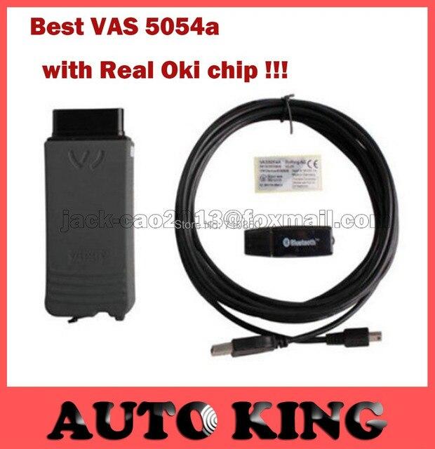 С Реальными OKI Чип! лучшее качество один vas5054 VAS 5054A ODIS V2.0 Bluetooth Поддержка UDS Протокол Полный чип версия-DHL бесплатно