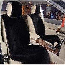 1 pieza de Piel Artificial De piel sintética cubierta de asiento de coche para el asiento delantero esquila de coche de invierno amortiguador de la felpa cojín del asiento de coche coche de piel sintética cape