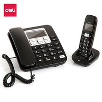 Deli Brand 791 High Quality Elegant Wireless Phone Fixed For Office Home Supplies 2 4GHz Base