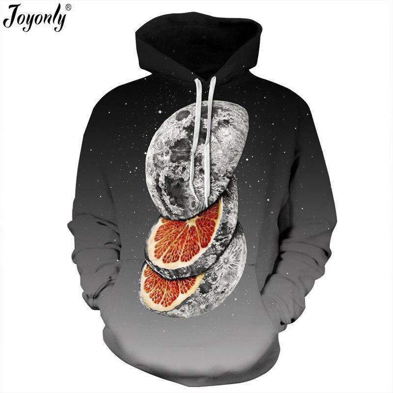 Joyonly New 2018 Women/Men 3D Hoodies Eye Tree Milk Skull Galaxy Orange Sea Wave Brand Sweatshirt Hooded With Front Pocket Tops