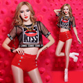 Ds costumes new Bar Perspective sexy dj nightclub singer clothing Hip hop performances lead dancer clothing Sexy Slim Clubwear