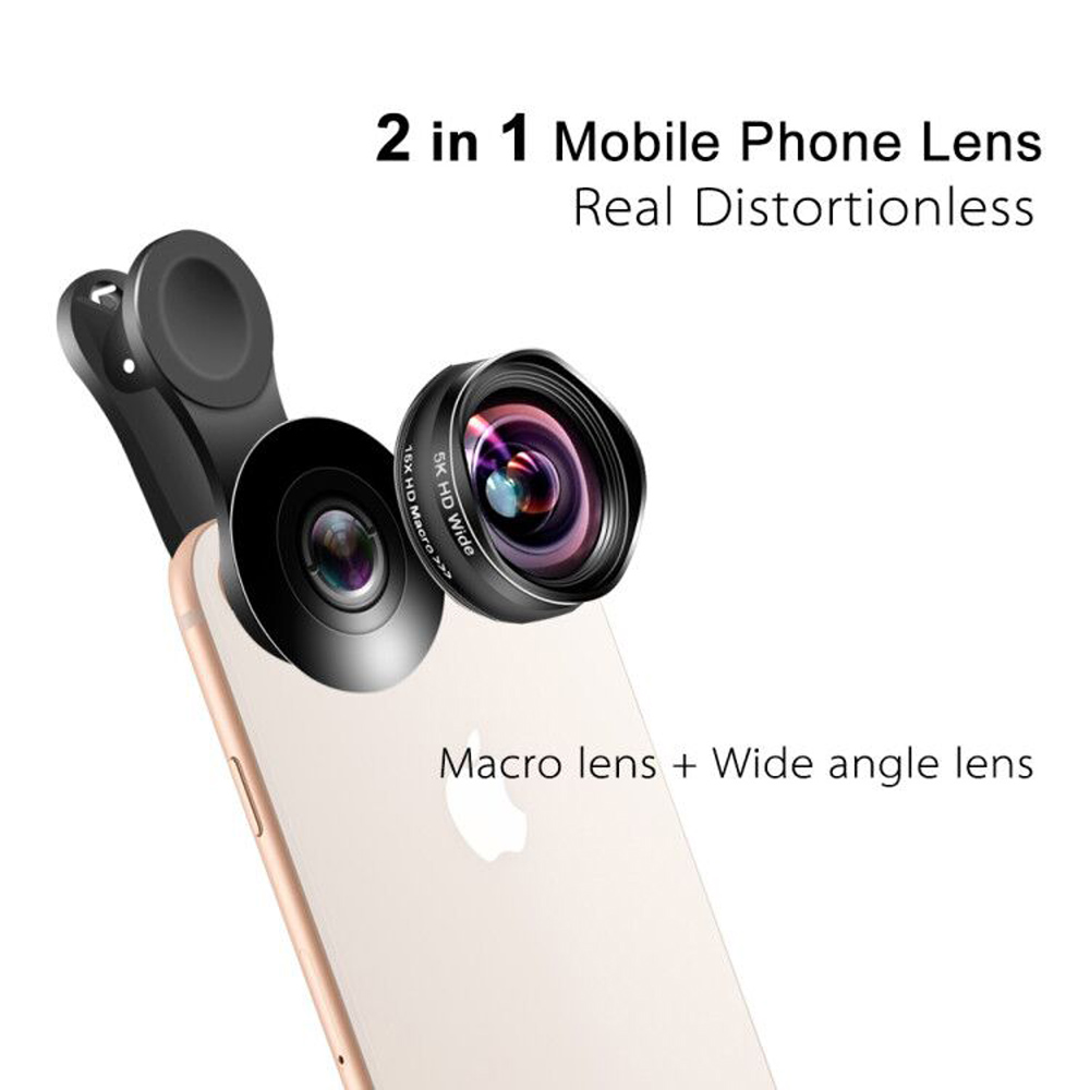 Image 3 - Flower Bud 5K HD Phone Lens Wide Angle Macro Lens No Distortion 0.45X Professional 2 in 1 Camera for Smartphone iPhone Mobile-in Mobile Phone Lens from Cellphones & Telecommunications