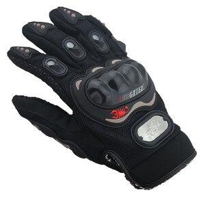 Image 3 - Breathable Gloves Leather Gloves Motorcycle Gloves Driving Road Bike Protective Gloves for Men