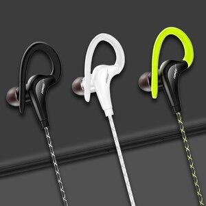 Image 3 - 원래 스포츠 이어폰 슈퍼베이스 헤드폰 모든 휴대 전화 xiaomi에 대 한 마이크 귀 후크와 Sweatproof 실행 헤드셋