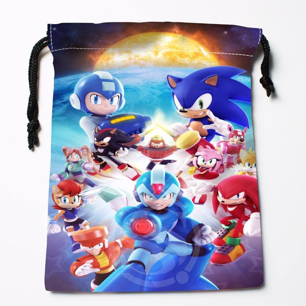 Fl-Q103 New Sonic #4 Custom Printed  Receive Bag  Bag Compression Type Drawstring Bags Size 18X22cm 711-#Fl103