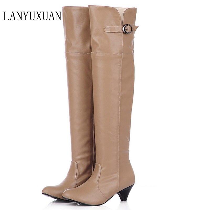 цены на Botas Mujer Big Size 34-43 Style Thigh High Women Woman Femininas Boots Botas Masculina Botines Mujer Chaussure Femme Shoes 905 в интернет-магазинах