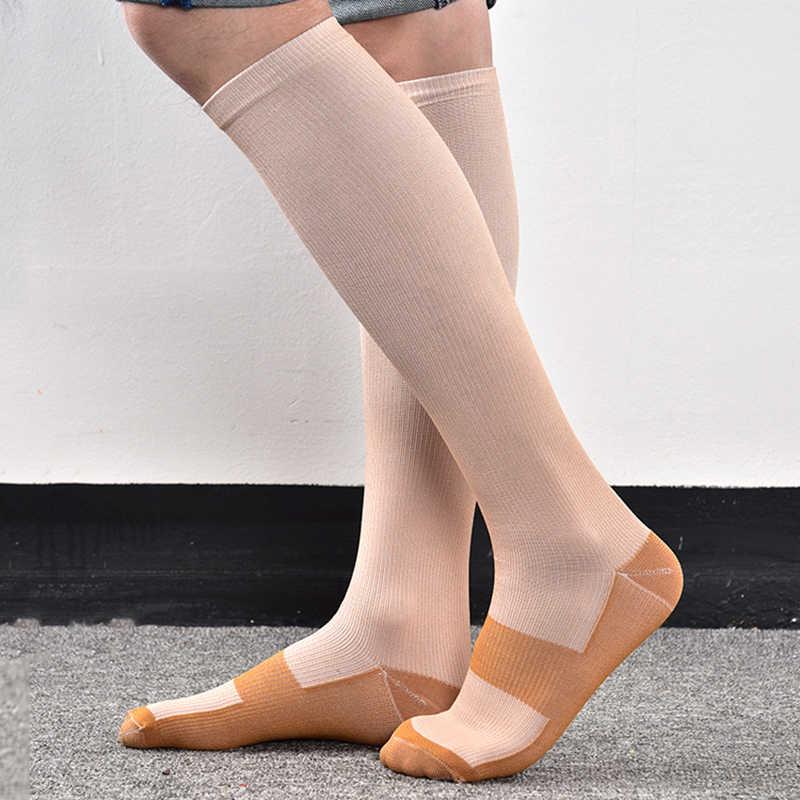 2 piezas calcetines deportivos calcetines de compresión abrigadores de pierna Unisex calcetines de compresión antifatiga alivio del dolor del pie