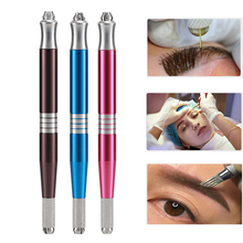 1pc Microblading Tattoo Machine Tools Permanent Makeup Double Head Tattoo Manual Pen Handle Manual Accessories for Eyebrow Lip