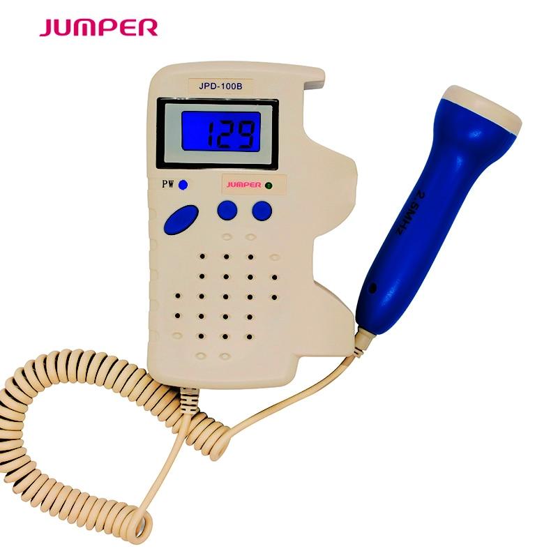 Jumper Doppler Fetale Schermo LCD Del Dispositivo di Rilevamento della Frequenza Cardiaca Prenatale Doppler Fetale Pocket doppler per La Gravidanza Feto