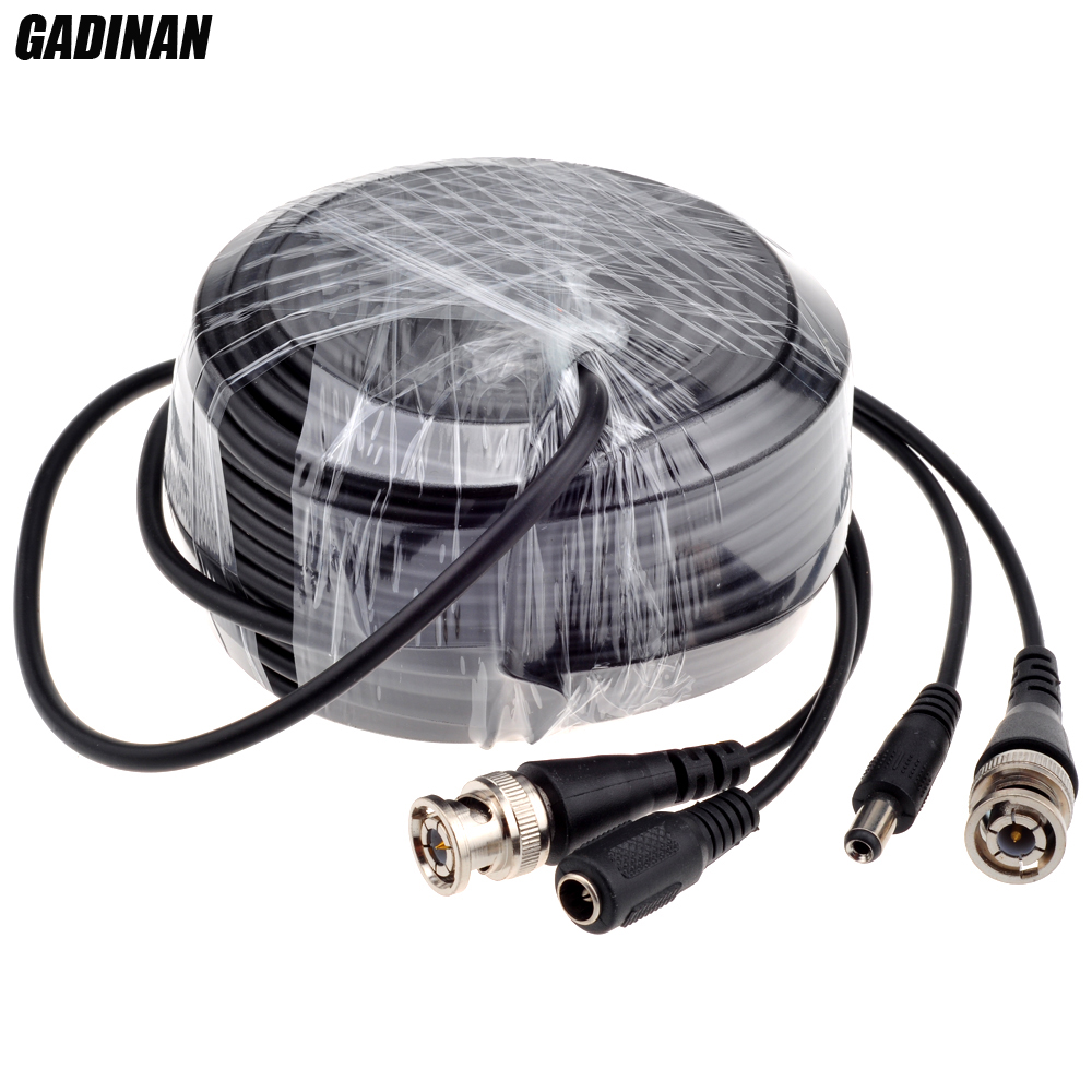 GADINAN BNC Cable 5M/10M/15M/20M/30M/40M/50M Optional CCTV Cable Video Output DC Plug Cable for AHD/Analog BNC System DVR Kit akg pae5 m