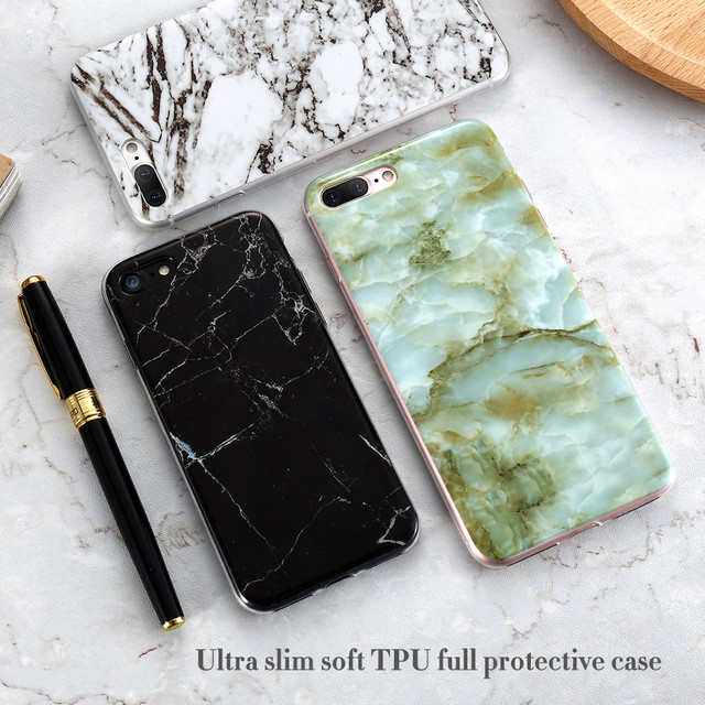 FLOVEME Marble Phone Case For IPhone X 8 7 Plus 5S SE 5 Cases Silicone