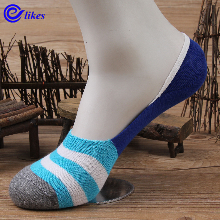 3Pairs Mens Bamboo Invisible Ankle Socks Men Summer Casual Loafer Moccasins No Show Socks Male Boat Socks stripe sox