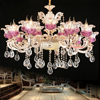 Living Room Lights Luxury Crystal Chandeliers Light Gold Chandelier Modern Chandelier Lighting Dining Room Lamp Hanging