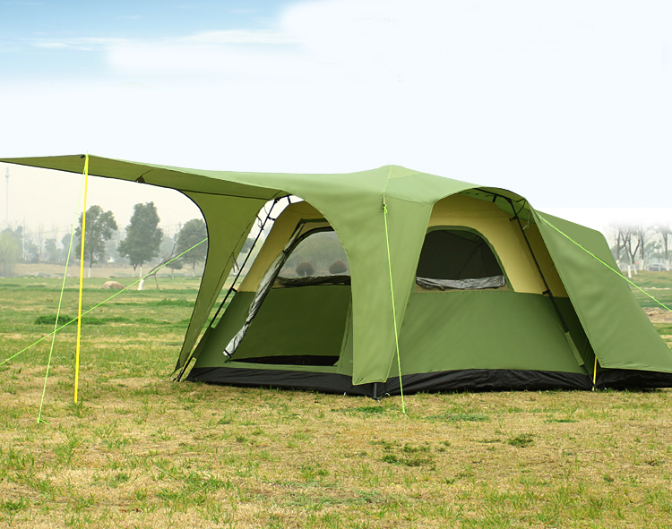 New arrival high quality double layer one hall one bedroom waterproof windproof camping family party tent