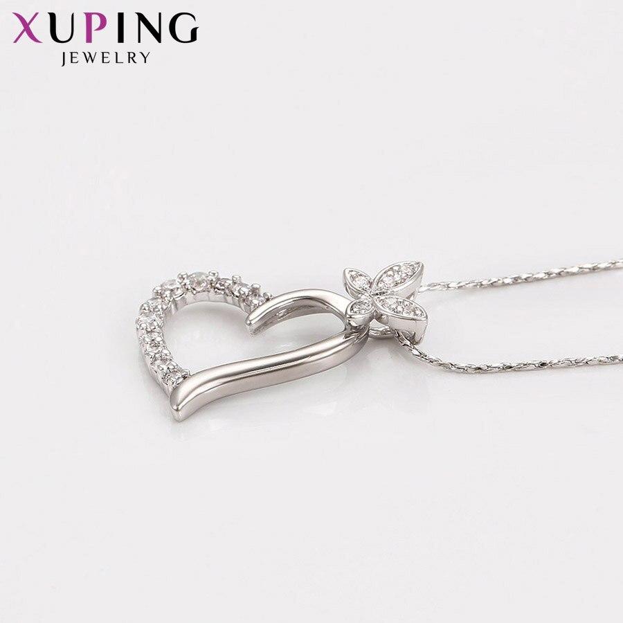 11,11 сделок Xuping Мода Сердце Форма Кулон Родий Цвет покрытием украшения для Для женщин подарок на день матери M34-30074