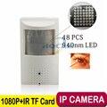 1080 P Аудио Мини IP Камера 940nm Ночного видения ИК-Камеры IP камера Крытый Безопасности CCTV Ip-камера 3.7 мм Объектив + 32 Г TF карта