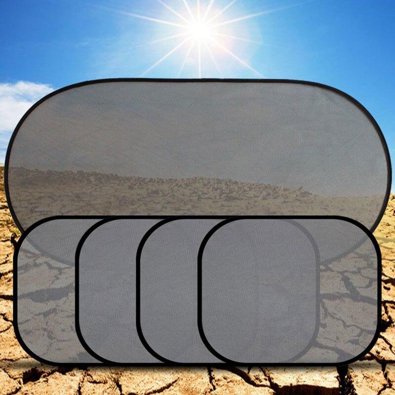 5Set Car Side Rear Window Sunshade Sun Shade Mesh Cover Visor Shield Screen