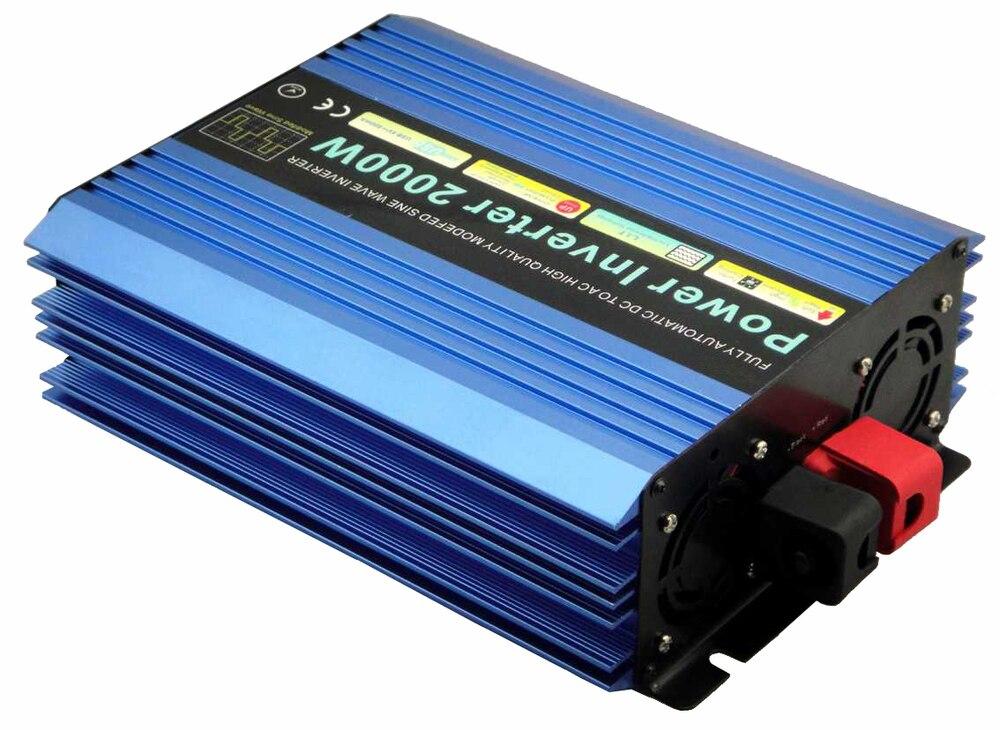 Power Inverter 2000W off inverter  4000W Peak 24V DC 110V AC Modified Sine Wave free shipping