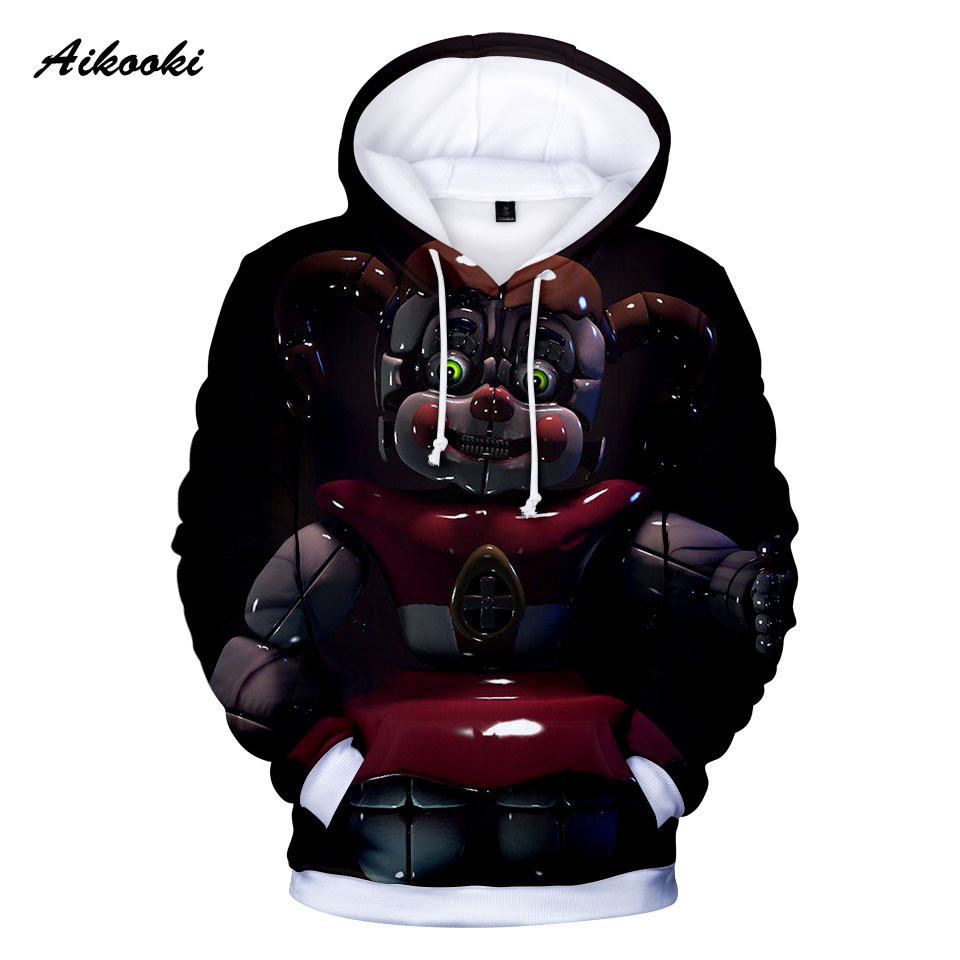 ̀ •Ì 3D Five Nights At Freddys Sweatshirt Lovely For Mens