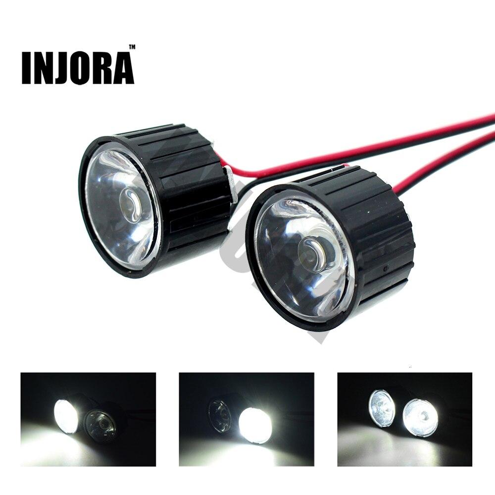 1 W/3 W DIY alta potencia luces LED con controlador para 1:10 RC Rock crawler axial SCX10 1:8 RC coche traxxas HSP HPI