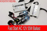 Free Shipping 1 SET 12V 55W Fast Start Brightness HID Xenon Kit H1 H3 H7 H11