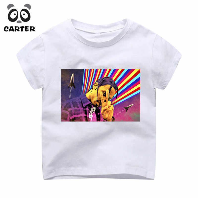 3fc9a68ddb47 ... 2-9 Year Kid's Travis Scott Astroworld GOV BALL NYC Print T-shirt Boy  ...