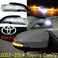 Carro-styling, Camry Espelho de luz, 2006 ~ 2014, Livre O navio! 2 pcs, espelho Camry luz; carro-cobre, cromo, Camry turno luz; Camry