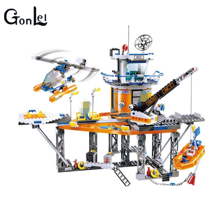 (GonLeI)Model building 02070 Coast Guard City Series 3D Assembly Hold Insted Wang Puzzle Particles Toys цена и фото