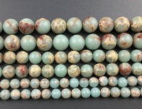 Naturel bleu vert mer sédiments jaspe r perles, fabrication de bijoux perles Imperial Jaspe r perle fournitures 4mm 6mm 8mm 10mm 12mm 3 strand