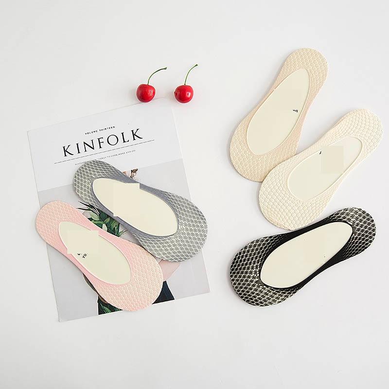 [EIOISAPRA]Silk Mesh Cotton Ultrathin Women Ship Socks Candy Color Comfort Ankel Stealth Socks Antiskid Fashion Meias Sox