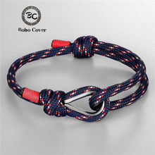 New Fashion Navy Coloful High quality Rope bracelet Men Lover Lucky Wrap Survival Bracelets Women Couple gift homme dropshipping(China)