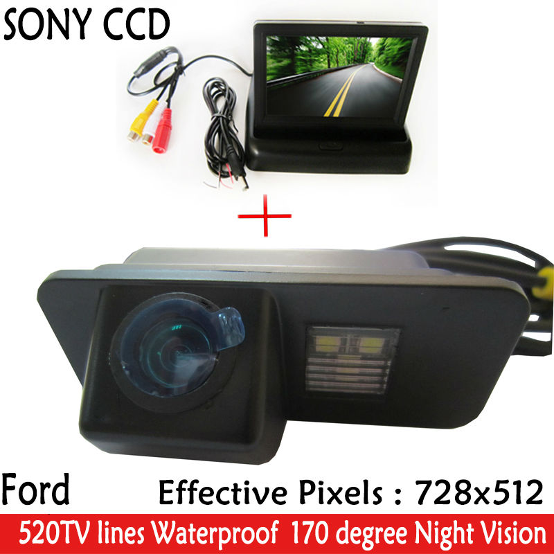 HD Video Auto Parking 4.3 Car Rear view Mirror Monitor+Reverse CCD Car Rear View Camera for Ford Mondeo Fiesta Focus S-Max KUGA portable bluetooth speaker wireless alarm clock music stereo soundbox time display fm radio tf card altavoz speakers for phones